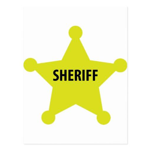 sheriff star postcard