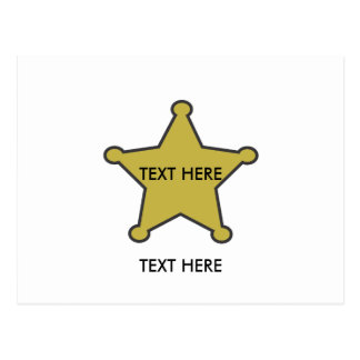 sheriff star text here post card