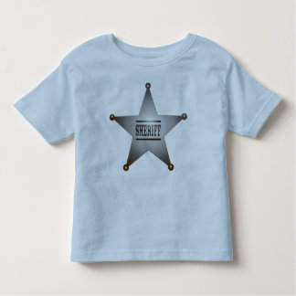 Sheriff star toddler t-shirt
