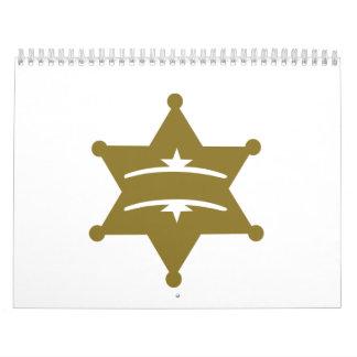 Sheriff star your text calendar