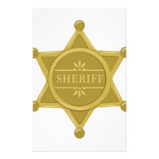 Sheriff Stationery