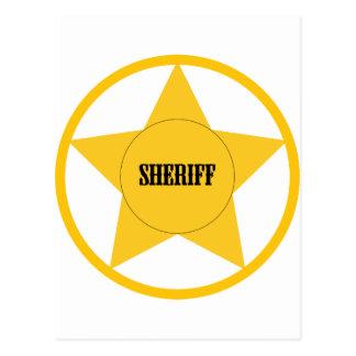 Sheriff Tarjetas Postales