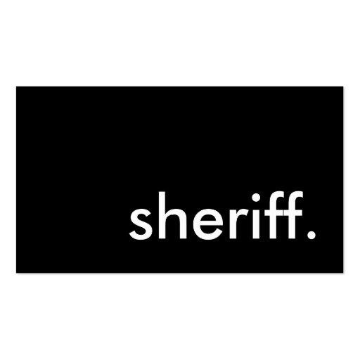 sheriff tarjetas de visita