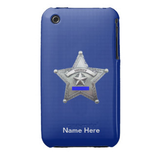 Sheriff Thin Blue Line Badge Case-Mate iPhone 3 Cases