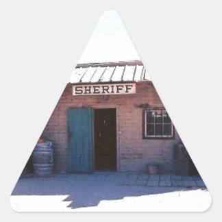 Sheriff Triangle Sticker