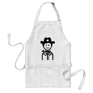 Sheriff uniform hat apron