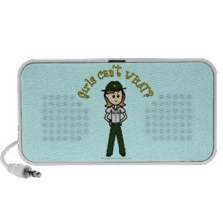Sheriff verde claro notebook altavoces