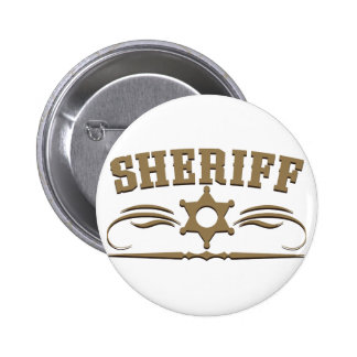 Sheriff Western Style Button