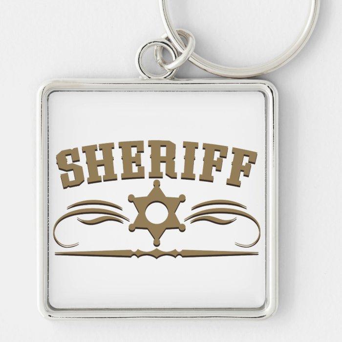 Sheriff Western Style Keychain
