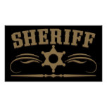 Sheriff Western Style Posters