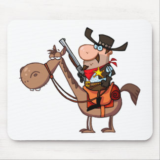 Sheriff With Gun On Horse Mouse Pad