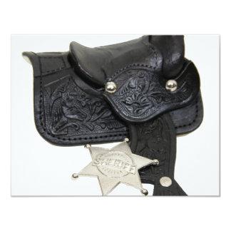 SheriffBadgeSaddle051009 Custom Invite