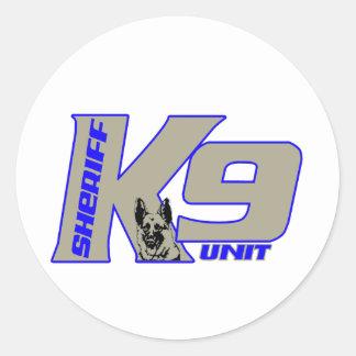 sheriffk9unit classic round sticker