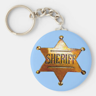 Sheriff's Badge Keychain (in 3 styles)