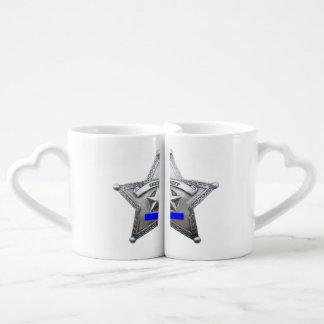 Sheriff's Badge Lovers' Mug Set
