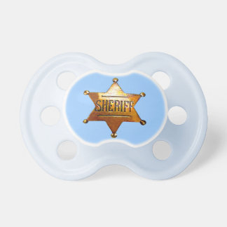Sheriff's Badge Pacifier (in 2 sizes)