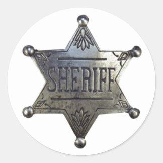 Sheriff's Badge Round Sticker