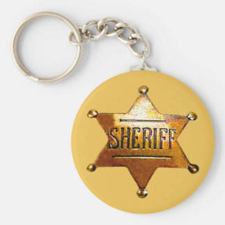 Sheriff's Badge Tan Keychain (in 3 styles)