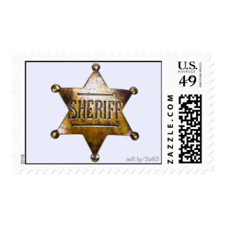 Sheriff's Badge U.S. Postage Stamps