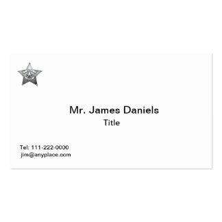 Sheriff's Father Badge Business Card