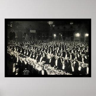 Sheriff's Jury Delmonico's Dinner Photo 1906 Poster