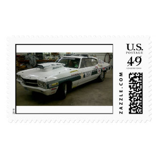 sheriff's Race Car Postage