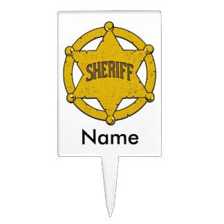 Sheriffs Star Badge Cake Topper