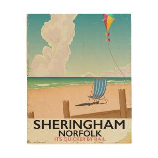 Sheringham Norfolk Beach travel poster