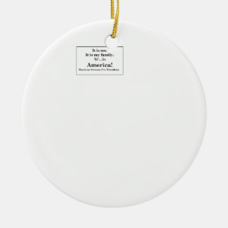 SherleneIsIt Campaign Slogan Items Double-Sided Ceramic Round Christmas Ornament