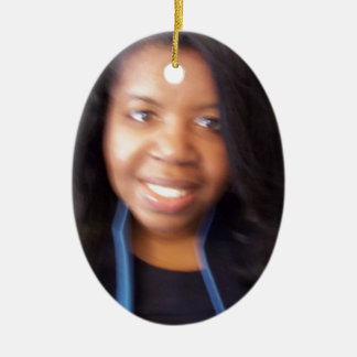 SherleneIsIt Campaign Store Items Double-Sided Oval Ceramic Christmas Ornament