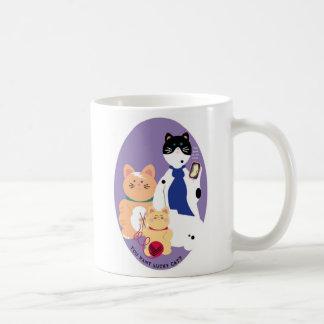Sherlock cats lucky mug