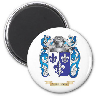 Sherlock Coat of Arms (Family Crest) 2 Inch Round Magnet
