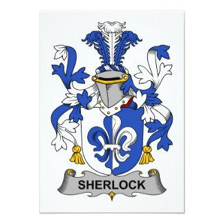 Sherlock Family Crest 5x7 Paper Invitation Card