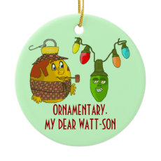 Sherlock Holmes Christmas Ornament