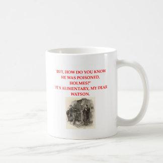 sherlock holmes joke classic white coffee mug