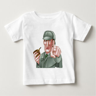 Sherlock Holmes Pointing Cartoon Baby T-Shirt