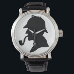"""Sherlock Holmes Silhouette Wrist Watch<br><div class=""""desc"""">Have a silhouette of the great detective on your wrist. If you&#39;re a Sherlock Holmes fan,  you&#39;ll love having Holmes with you all the time.</div>"""
