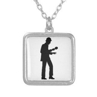 Sherlock Holmes Square Pendant Necklace