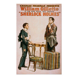Sherlock Holmes Theatrical Play Poster #3