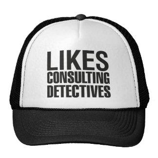 SHERLOCK LIKES CONSULTING DETECTIVES TRUCKER HAT