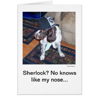 Sherlock? Puppy Love Note Greeting Card