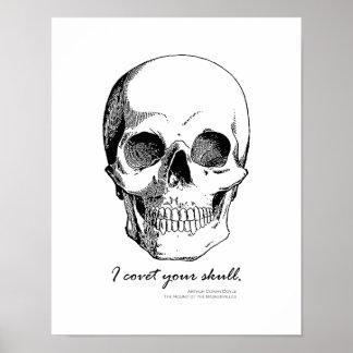 Sherlock Quote I Covet Your Skull Gothic Poster
