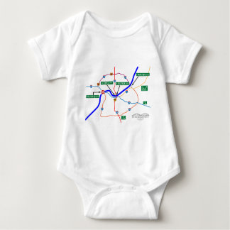Shermageddon Map Baby Bodysuit