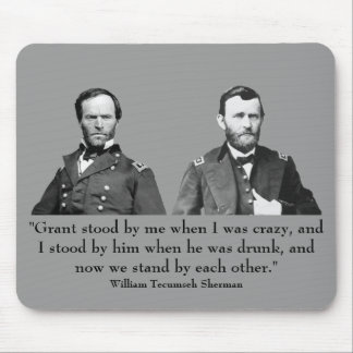 Sherman and Grant Mouse Pad