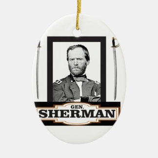 sherman and swords ceramic ornament
