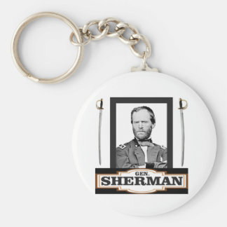 sherman and swords keychain