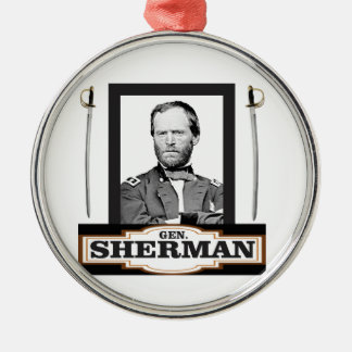 sherman and swords metal ornament