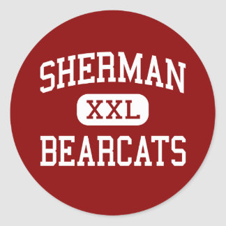 Sherman - Bearcats - High School - Sherman Texas Round Stickers