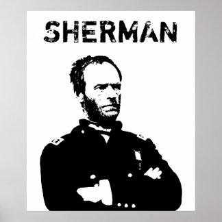 Sherman -- Black and White Poster
