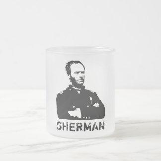 Sherman -- Blanco y negro Taza De Café